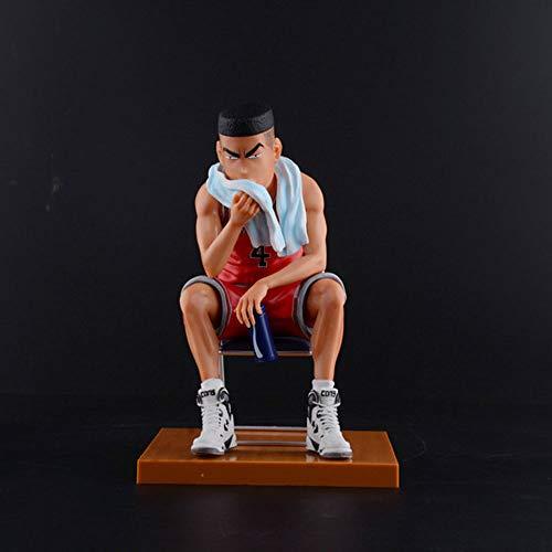 WISHVYQ Slam Dunk Modelo de Anime Serie de taburetes Sakuragi Kaede Rukawa con Figura de Escena Base para Hacer una versión decoración Escultura muñeca Modelo Estatua Juguete Altura 17