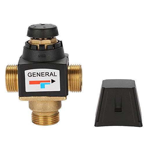 Mischventil, 3-Wege-DN20-Thermostat-Mischventil Außengewinde Messing-Mischventil für Brauchwarmwasser, kleiner Fußbodenheizkreis