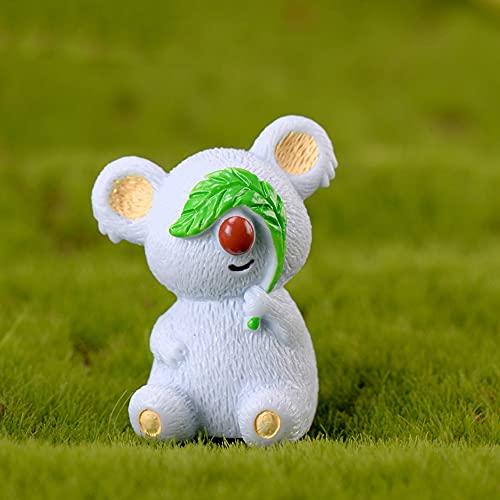 PPuujia 1 Stück Koala-Figur Dekoration Handwerk Miniaturmodell Heimdekoration Niedliches Zubehör Desktop Garten Dekoration (Farbe: B)