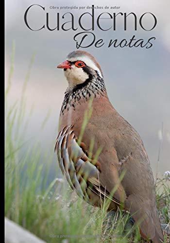 Cuaderno de notas: Original y práctico cuaderno de escritura forrado de todos los días - cuaderno para cazador - caza menor - perdiz| 100 páginas en formato 7*10 pulgadas
