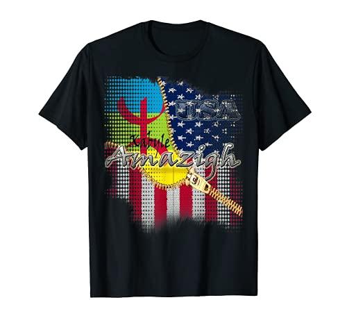 Bandera americana de Kabyle amazigh camiseta para hombres, mujeres y niños Camiseta