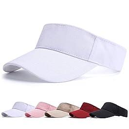 BLURBE Visiere Casquette Femme – Casquette Golf, Visières Casquette de Soleil Réglable Homme Sport Hat pour Golf…