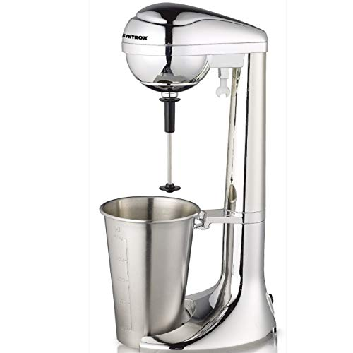 Syntrox Germany Elektrischer Milchshaker - Milchshake-Maker - Drink-Mixer - Barmixer - Eiweiß-Mixer - Cocktail-Mixer bis zu 22000 U/Min, 2 Stufen, mit Edelstahl-Becher