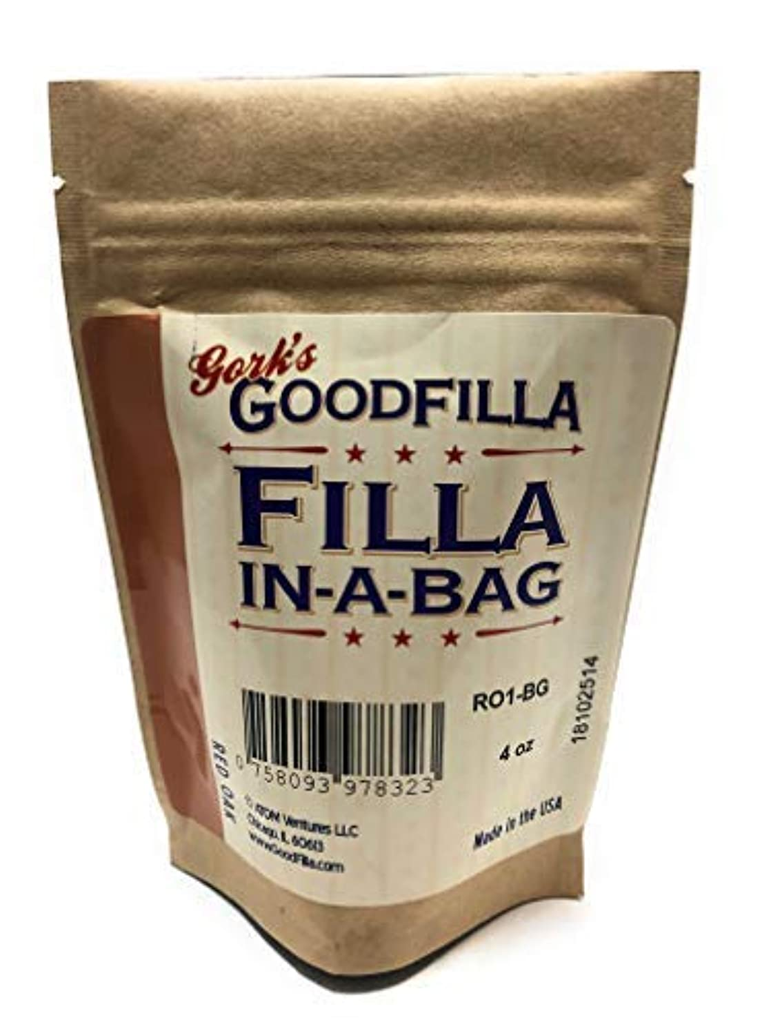 Wood Filler & Putty Powder - Innovative Formula - Filla-In-A-Bag - Red Oak - 4 oz By Goodfilla   Repairs, Finishes & Patches   Paintable, Stainable, Sandable & Quick Drying   Zero Waste