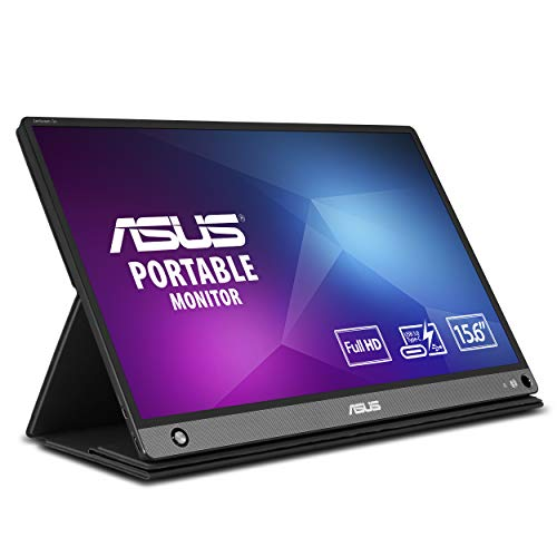 Asus Zenscreen Go MB16AHP 15.6' Full HD Portable Monitor IPS Non-Glare Built-in Battery and Speaker Eye Care USB Type-C Micro HDMI W/Foldable Smart Case