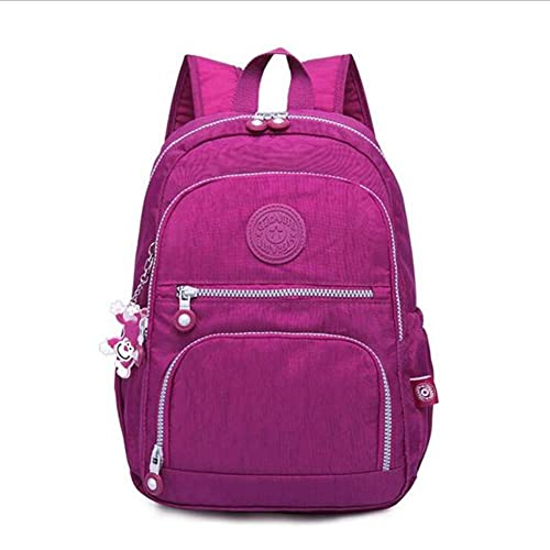 UKKO Mochila Mochilas para Mujer Mochila Escolar para Adolescentes Mujeres Mochilas Feminina Mujer Papa Portátil Bagpack Bolsas De Viaje Sac A Dos-Purple Red,33X16X47 Cm 1377