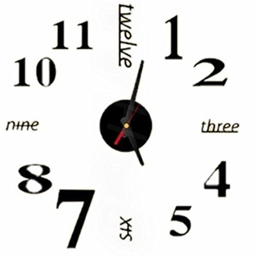 ウォールクロック (クラシック 黒)(仕上 40 x 40)(壁時計 ステッカー 部屋 装飾 模様 替え ウォール クロック)