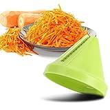 Cortadora de verduras Spiralizer, Aparatos de cocina de rallador para hacer fideos de acero inoxidable(Green)