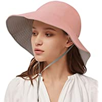 Vbiger Women's UPF 50+ Double-Sided Beach Sun Protective Hat