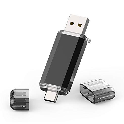 TOPESEL Chiavetta 128GB USB 3.0 Type C Dual Otg Flash Drive USB C Thumb Drive Memoria Stick Per USB C Smartphones, Laptop, Tablets, Nero
