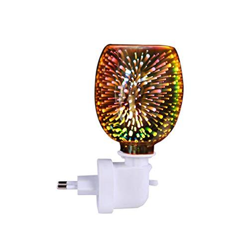 CAIJ Lámpara de Aroma 3D Quemador de Cera Fundido Eléctrico Enchufable Quemador...