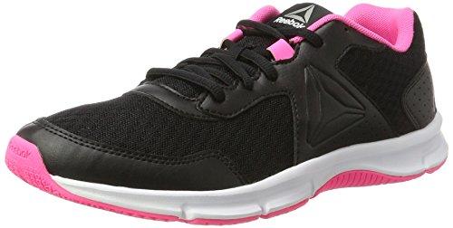 Reebok Damskie buty do biegania Express Runner, czarny - Schwarz Black Poison Pink Pewter White - 38.5 EU