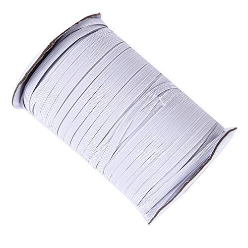 LWANFEI Gummibänder Schnur, Stretch Stretch Seilspule zum Nähen Basteln DIY, Tagesdecke, Manschette,Weiß,0.5cm