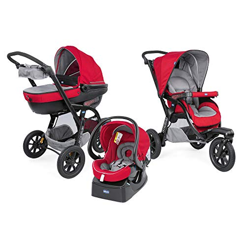 Chicco Trio-System Activ3 Top Kombikinderwagen 3 in 1 mit Kit Car 06079270850000, red berry
