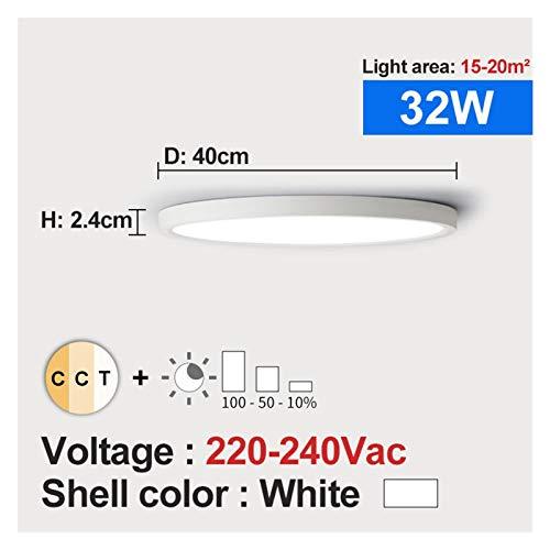 Moderno, Luz de techo LED Dimmable 12W 18W 24W 32W 220V con 3 colores ajustables para dormitorio Lámpara de techo moderna del baño para sala de estar, dormitorio, pasillo y más