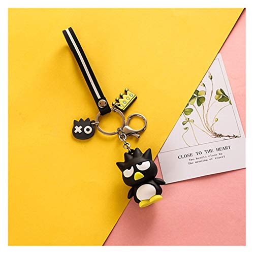 XHAEJ Portachiavi Carino Anime Keychain Kawaii Cartoon Cartoon Big Eared Dog Frog Pudding Dog Penguin Donne Borsa Pendente Portachiavi Catena Chiave (Color : Penguin Key Chain, Size : 10 cm)
