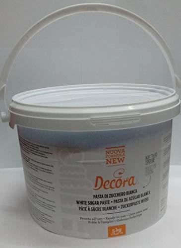 Decora 0310190 Pasta Di Zucchero New Bianca 5 Kg