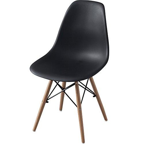 アイリスプラザ 椅子 ダイニングチェア イームズチェア リプロダクト ブラック PP-623