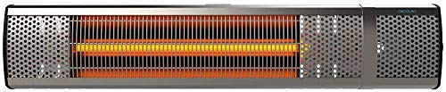Cecotec Calefactor de Pared Exterior Ready Warm 8500 Power Aluminium. Halógeno de radiación infrarroja, 2000 W, 3 Niveles de Potencia, IP55, Aluminio, Mando a Distancia, Inclinación Ajustable.