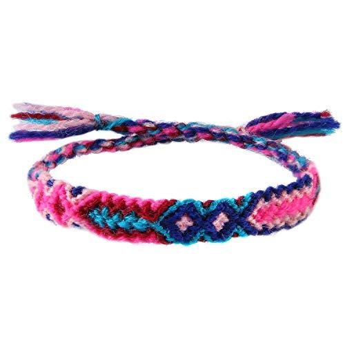 KELITCH Handgemachte Seil Armbänder Baumwollfaden Geflochtene Freundschaft Armbänder Modeschmuck (Bunte P)