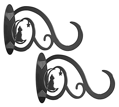 2 PCS Colgando Planta Soporte Soporte Decoración de Hierro Planta Percha 8 Pulgadas Negro Pantalones Colgantes Para Interior Al Aire Libre Alimentante Alimentador Flower Cesta De Viento Chime Luces De