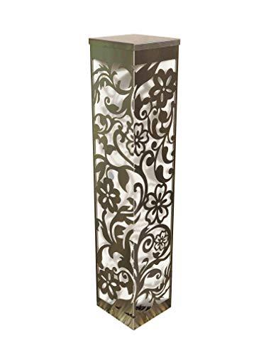 Edelstahlsäule Blumenmuster 20x20x100cm Säule aus Edelstahl geschliffen