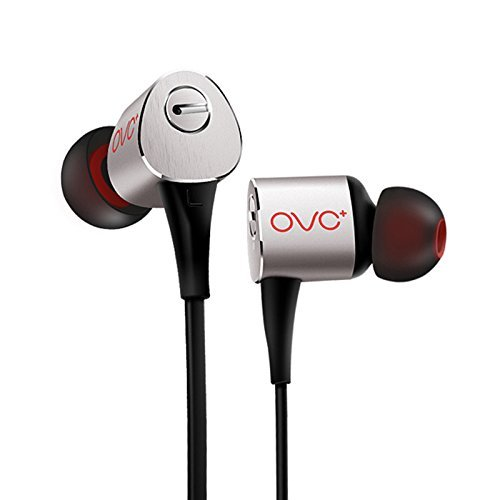 OVC in-Ear Earbuds Earphones Wired Headphones with Microphone - 3 Adjustable Heavy Bass Dynamic Driver, for iPhone Android Samsung