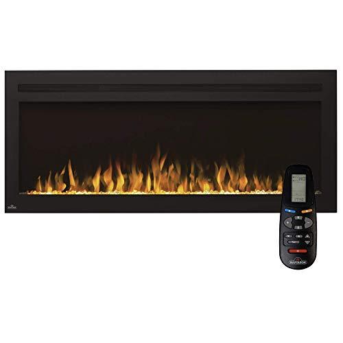 Napoleon Premium Fire - Purview™ Series (50)- Elektrokamin, Kamin elektrisch, elektrischer Wandkamin, kaminofen Elektro, kaminfeuer elektrisch, Heizung, 3D LED Flamme & inkl. Fernbedienung - schwarz