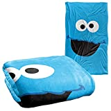 """Sesame Street Cookie Monster Face Officially Licensed Silky Touch Super Soft Throw Blanket 36"""" x 58"""""""