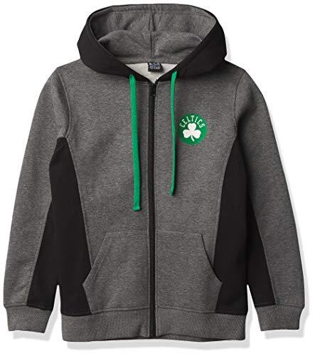 NBA Boston Celtics Women's Soft Fleece Full Zip Hoodie Sweatshirt Jacket, Black, S