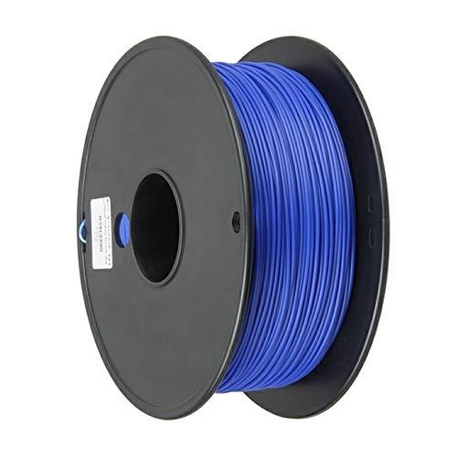 WANGZHI. 1 kg 1.75mm PLA 3D-Drucker Glühfaden Bunte (Color : Blau, Size : Kostenlos)