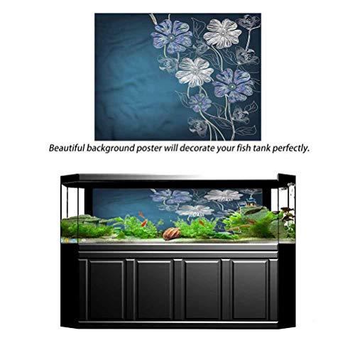 Estivation Aquarium 3D Seabed World Backdrop Cherry Blossom Bridal Theme 48' L x 20' H Multiple Sizes PVC Adhesive