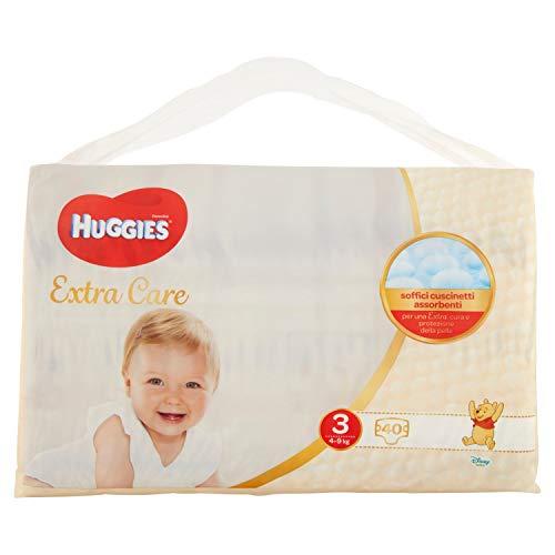 Huggies Huggies Extra Care, talla 3 (4-9 kg), paquete de 40 pañales – 1180