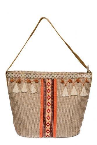 Kaemingk Borsa a spalla in un design moderno arancione Borsa a tracolla borsa per la spesa a mano in pelle