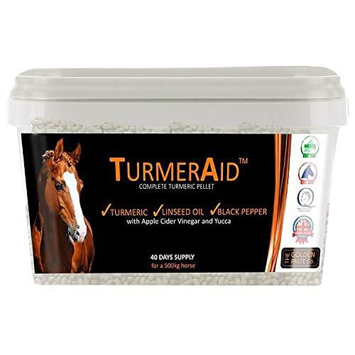 The Golden Paste Company Turmeraid Complete Turmeric Pellet Horse Supplements 2kg