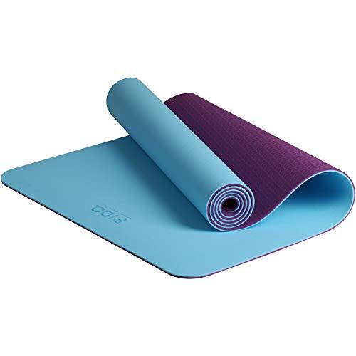 PIDO tappetino da yoga, leggero tappetino da viaggio, ecologico, tappetino fitness antiscivolo con cinghia e borsa, tappetino per pilates e ginnastica, perfetto per uomini e donne, 183 x 61 x 0,6 cm