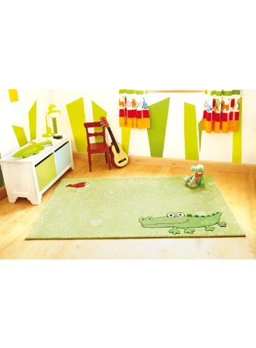 Sigikid Kinderteppich Happy Zoo Crocodile | grün | 120 x 180 cm