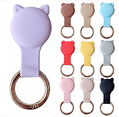 KURT HOME Premium Zubehör Anhänger Case GPS mit Motiv Hülle Soft Apple AirTag Holder Schlüsselanhänger Silikon für Kinder Mädchen Kleinkind Hund kaufen (Lavendel)