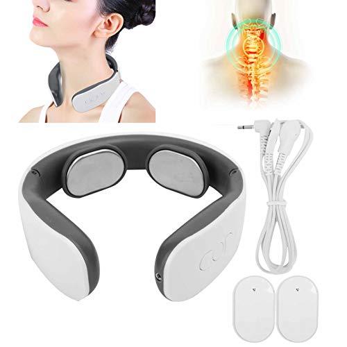 Masajeador de cuello, masajeador de vértebra cervical eléctrico alivio del dolor terapia de pulso instrumento de masaje de cuello para aliviar el dolor muscular relajarse