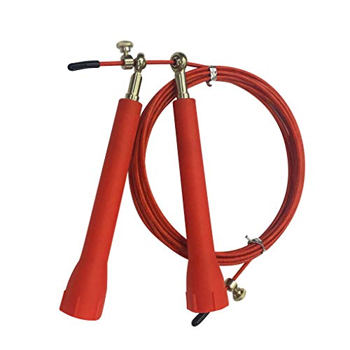 Qimao Vitesse Skipping fil corde Intérieur Extérieur Saut Poids corde Perte exercice Home Gym Workout Tool, Red