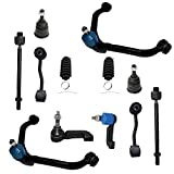 Detroit Axle - 12pc Front Suspension Kit for 2002-2004 Jeep Liberty 2.4L & 3.7L, Upper Control Arms w/Ball Joints, Lower Ball Joints, Inner Outer Tie Rod w/Boot, Sway Bar Links