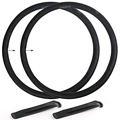 LotFancy 27.5 Mountain Bike Tube, 2PCS 27.5 x 2.125/2.4 Bicycle Inner Tubes, 42mm Presta Valve, 2 Tire Levers Included