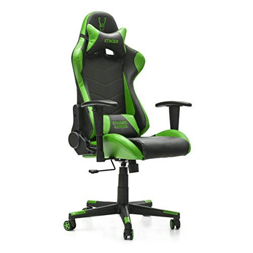 Woxter Stinger Station Green - Silla Gaming (Eje Acero, Leva