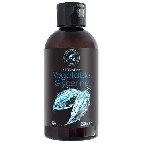 Vegetable Glycerin 250ml - 99% Rein - Flüssig - Pflanzlicher Glyzerin - Pflege für Gesicht - Körper - Haare - Liquid Base - Liquid Haare Seife