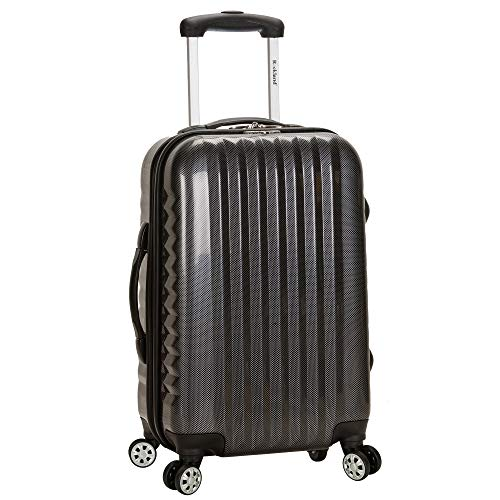 Rockland Melbourne Hardside Expandable Spinner Wheel Luggage, Carbon, Carry-On 20-Inch