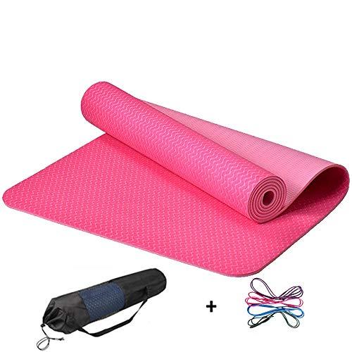 YUXIAOYU TPE Yoga-Matte Zweifarbige Anfänger Fitness-Matte Zu Hause Tanzgymnastik Rutschfester Geschmacklos Und Umweltfreundlicher 6Mm,B