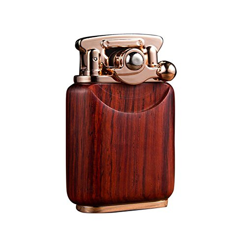 Kywa Tobacco Pipe Lighter Soft Flame Rocker Arm Lighter Premium Wooden Kerosene Lighter for Men,#1