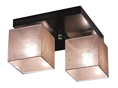 Deckenlampe - HausLeuchten LLS226D, Deckenleuchte, Leuchte, Lampe, 2-flammig, Massivholz