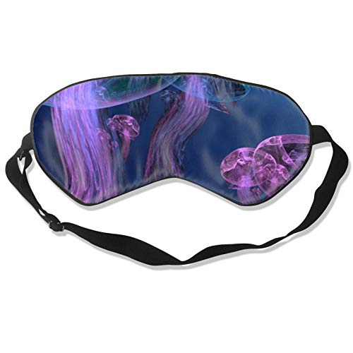 Creative Marine Sketch - Máscara para dormir subacuática con correa ajustable para la cabeza, cubierta suave y duradera para dormir toda la noche, viajes, trabajo por turnos, meditación, siesta