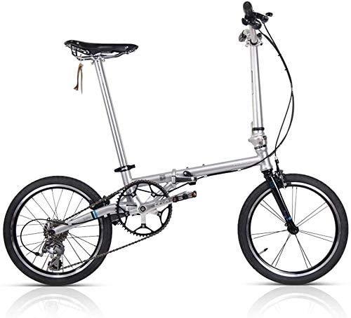 CXY-JOEL Bicicleta Plegable Niños Adultos Ultraligero Viaje Mini Bicicleta Portátil Adecuado para Andar en la Ciudad Bicicleta Plegable Eléctrica (Color: Blanco),Blanco
